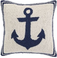 Anchor -  Blue Hook Pillow