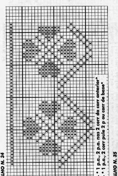 Filet Crochet, Cross Stitch, Crochet Diagram, Crochet Stitches, Cross Stitch Embroidery, Portion Plate, Diy And Crafts, Tejidos, Towels