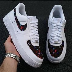buy popular 16039 2bcb6 Custom Nike Air Force 1 Low Noir Multi L0U   Etsy Custom Shoes, Shoe Art