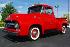 1956 Ford F100 Pickup: Drivers Side Front View