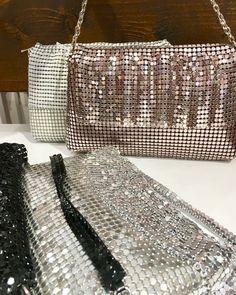 Metalizados en varios tonos Knitwear, Purses, Feminine Fashion, Women