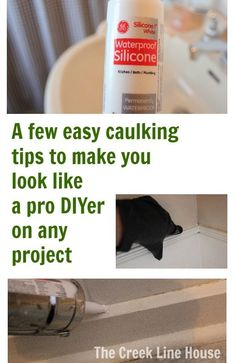 Tackle that DIY bathroom, kitchen, trim, or window project with ease by using these basic caulking tips!