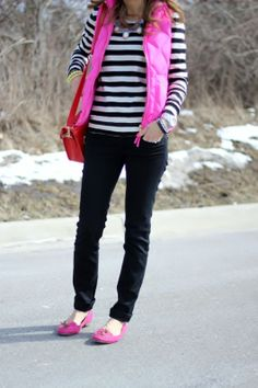 I love these pink loafers!