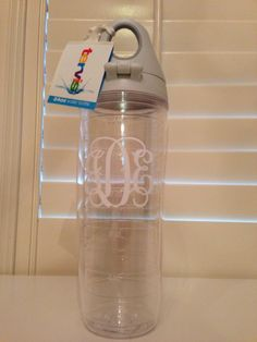 Custom make your tumblers and more at this website!!!  Monogrammed Tervis 24 ounce water bottle tumbler monogram