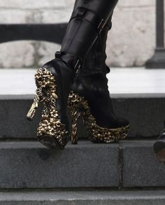 sweet, delicious, studded sole leather boots - mcqueen