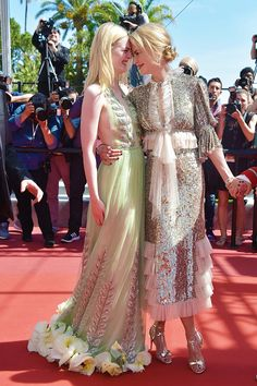 Elle Fanning and Nicole Kidman attend the 'How To Talk To Girls At Parties' screening during the 70th annual Cannes Film Festival at on May 21, 2017 in Cannes, France.