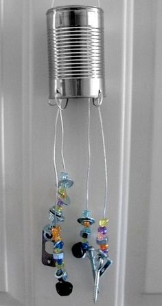 Handmade Recycled Material Wind Chime: