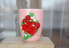 Кружка цветы красные розы – купить в интернет-магазине на Ярмарке Мастеров с доставкой
