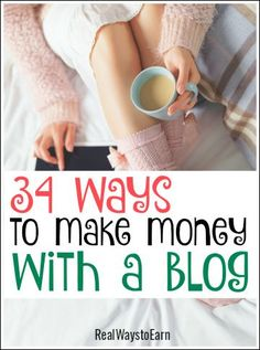 Get your blog up and running and making money! Here are 34 ways to do it.