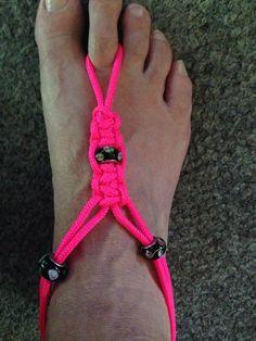 Parachute cord barefoot sandals