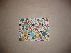 Simple+Canvas+Painting+Ideas | My completed work of art! I was originally hoping to hang it in my new ...