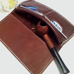 Handmade cowboy wallet with tobacco pouch