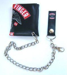 Five Finger Death Punch 5DPP Eagle Logo Black Chain Wallet Bravado. $16.99