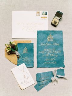 wedding invitiation suite calligraphy - http://ruffledblog.com/moody-dramatic-wedding-inspiration