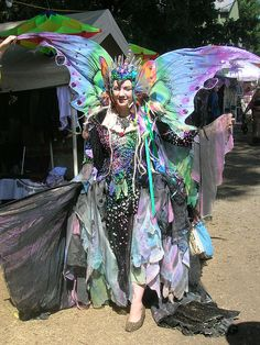 elaborate fairy. The detail on her dress is so pretty!