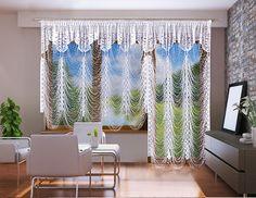 Te oryginalne firanki przeznaczone są do okien i drzwi balkonowych. Ich ciekawy układ, który tworzy wzór sieci z pewnością spodoba się osobom, lubiącym niebanalne wnętrza. To idealny zestaw dla miłośników nowoczesnego stylu.