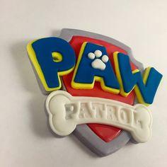 Paw Patrol Cake Topper Fondant Topper Paw by KedulceSugarDesigns