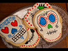 Mexican Sugar Skull Cookie Tutorial - YouTube