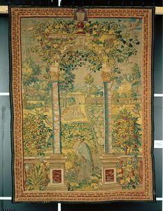 Gartentor (im Vordergrund ein Reiher) Medieval Manuscript, Renaissance, Bohemian Rug, Rugs, Home Decor, Herons, Lawn And Garden, Farmhouse Rugs, Decoration Home