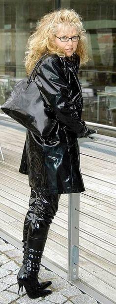 Shiny black PVC