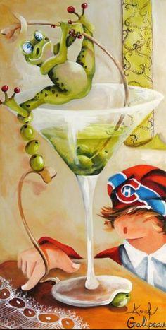 Artist - Anouck Goulet Frogs & Cub's fan