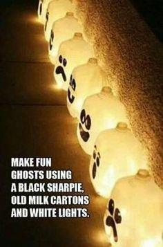 Halloween-Crafts idea-Ghost Lights