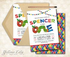 Very Hungry Caterpillar Birthday Invitation - DIY Party Printable / First Birthday / Hungry Caterpillar /
