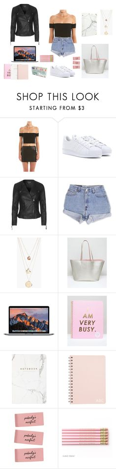 """Senior year"" by allgoodbabybaby on Polyvore featuring adidas, Topshop, Levi's, Boohoo, ASOS, ban.do, Eccolo and russell+hazel"