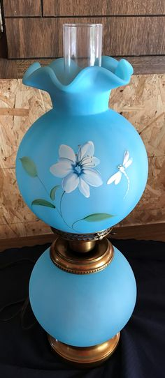 This Gone with the Wind GWTW Fento lamp is so gorgeous.  It is a limited edition #12 out of 250.  Hand painted and signed. Adorable dragonfly and flower.