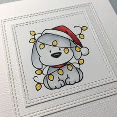 Love this time of year ✨❤️ (and I see that cute dog needs a shadow under h. Love this time of year Cute Christmas Cards, Christmas Doodles, Homemade Christmas Cards, Xmas Cards, Christmas Art, Cute Easy Drawings, Mini Drawings, Animal Drawings, Easy Christmas Drawings