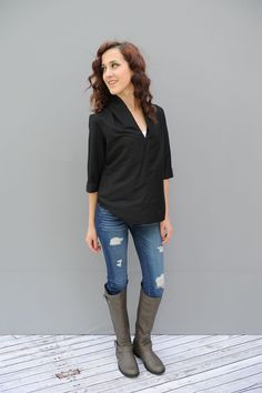 The perfect top for all your needs. This top can be causal or dress up for all your fall needs.