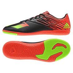 1562888418b Adidas Messi 15.3 Indoor Soccer Shoes (Black Solar Green Solar Red)