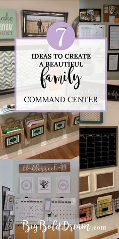 7 Ideas to Create a Beautiful Family Command Center Command Center Kitchen, Family Command Center, Command Centers, Declutter Your Home, Organizing Your Home, Create A Family, Family Organizer, Center Ideas, Beautiful Family