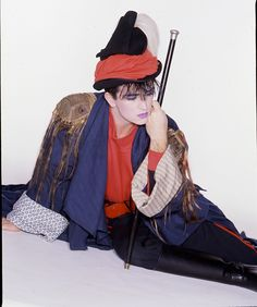 "Steve Strange of Visage, leader of the ""New Romantic"" movement in England, late 70s/early 90s."
