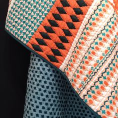 A detail of the pattern on Donna Wilson's new quilt forSCP