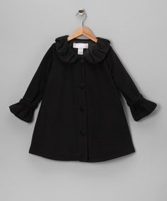Take a look at this Black Polar Fleece Swing Coat - Infant, Toddler & Girls by Sophia Young on #zulily today!
