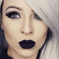 20  Awesome Black Lip Makeup Looks Ideas | ko-te.com by @evatornado