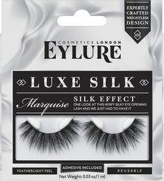 Luxe Silk Marquise Lashes Eylure Luxe Silk Marquise LashesChocolate marquise Chocolate marquise is a rich chocolate dessert made with dark chocolate, butter, sugar, cocoa powder, eggs and cream. Eyelash Serum, Eyelash Tips, Eyelash Brands, Eyelash Growth, False Lashes, All About Eyes, Skin Care Regimen, Eye Make Up, Eyelash Extensions