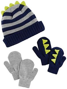 Simple Joys by Carter s Baby and Toddler Boys  Hat and Mitten Set 0f8c31a5fb6c