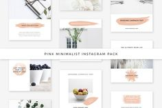 Pink Minimalist Instagram Pack by Swiss_cube on @creativemarket