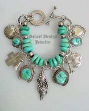 Native American, Turquoise, Totem animal, Southwestern & Equine Equestrian Horse, bridle rosette Jewelry | Schaef Designs Jewelry | Vintage Revival Jewelry Collection | Charm Bracelets | Dan Dodson, gary g, rocki gorman, don lucas, kirk smith | upscale online Southwestern Equine Turquoise & Native American Jewelry Gallery Boutique | Schaef Designs Southwestern Equine Jewelry | New Mexico