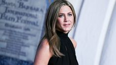 """Cake, cake, cake! Jennifer Aniston accepts an award at the Santa Barbara Film Festival as she's recognized for her work in """"Cake."""" Get it!"""