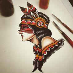 Resultado de imagen para indias tattoo diseños
