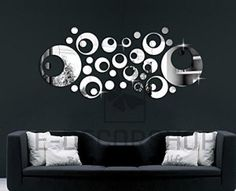 Modern Fashional Mirror Clock Wall Decal Home decor For Living Room Bedroom Art Wall stickers