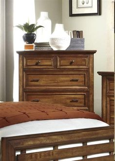 Catalina Transitional Toffee Wood Drawer Chest