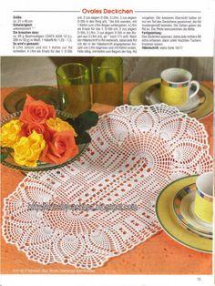 Artes by Cachopa - Croche & Trico: Caminho de mesa oval