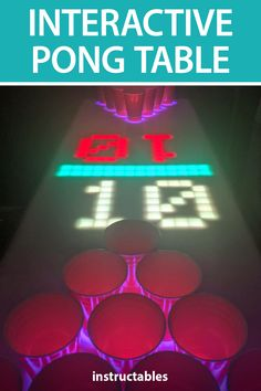 boregan1 created an interactive Pong table using LEDs and an Arduino. #Instructables #electronics #technology #game #college Useful Arduino Projects, Arcade Buttons, Arcade Joystick, Dark Walnut Stain, Mini Games, Jouer, Circuit, College, App
