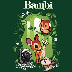 Disney Bambi T-Shirt Disney TeeTurtle