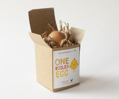Branding and packaging for a new single egg product. One Boiled Egg is a product created for children's school lunches. I have incorporated a cute chick character and playful handcrafted type to appeal to kids. The packaging consists of recyclable brown card and simple box design with wrapper that is easy for young children to open by themselves.