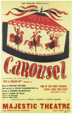 Amazon.com: Carousel (Broadway) 11 x 17 Poster - Style A: Lithographic Prints: Posters & Prints